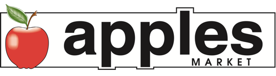 A theme logo of Apples Market